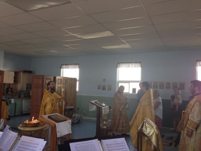 Fr. Michael gives the blessing at the Dismissal of the Divine Liturgy.