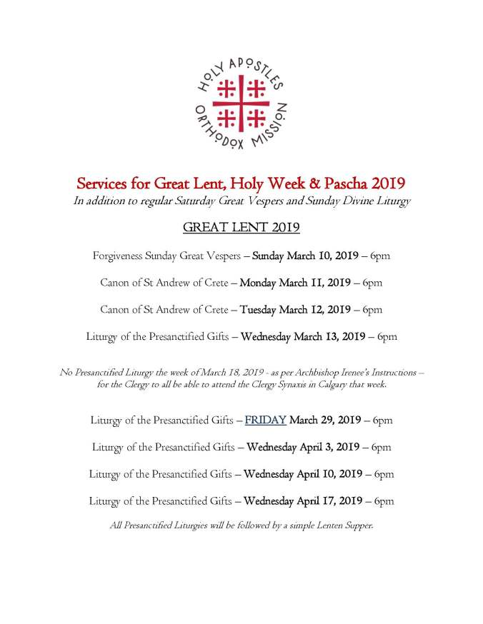 2019 - Great Lent, Holy Week & Pascha_Page_1