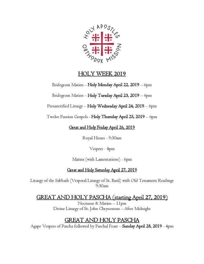 2019 - Great Lent, Holy Week & Pascha_Page_2